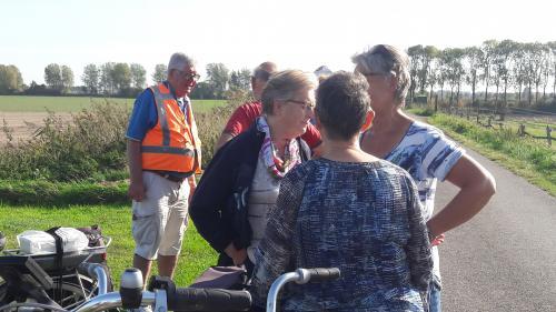 Enkele deelnemers tijdens de eerste vudb-stop op deNotendaalseweg