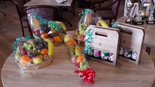 De fruitmanden voor de dagwinnaars