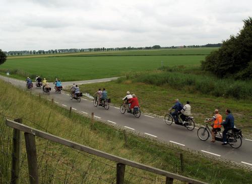 Weids uitzicht langs de dijk van het Schelde-Rijnkanaal