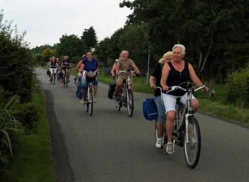 Genieten tijdens het fietsen in een mooie omgeving