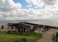 VUDB-stop met uitzicht op de Oosterschelde