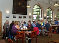 Mooi begin van de dag. Koffie met warme appelflap in het klooster bij de paters op Meersel Dreef