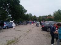 """Het was een drukte van belang op de parkeerplaats van Museumboerderij """"Goemanszorg"""" in Dreischor"""