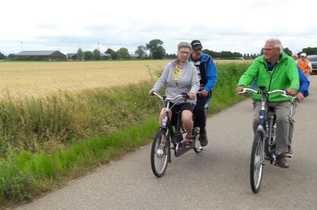 Ina met Nico en Piet met Jac tijdens de uitwisseling met Ons Zeeland