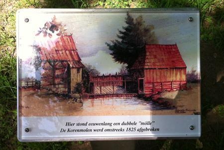 Informatiebord bij de oude watermolen waar we deze donderdagmiddag langs kwamen